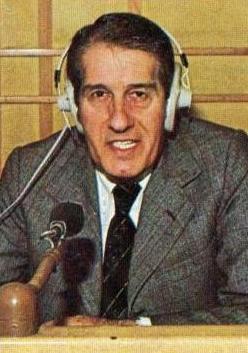 Roberto Bortoluzzi: dal 1961 al 1987 la principale voce della radio domenicale.